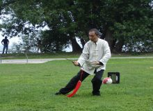 Master Leung - Sword Demo at HRCCA Summer Event