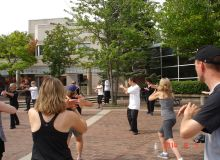 LEUNG's Yang Tai Chi member demo at 2014 FIT-in-the-CORE at City Hall, Burlington