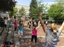 2013 LEUNG's Yang Tai Chi members demo at Fit-in-the-Core at City Hall, Burlington